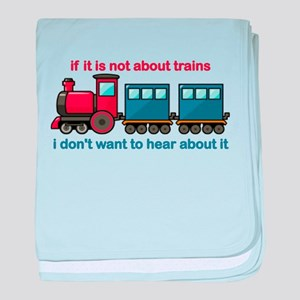 Train Talk baby blanket