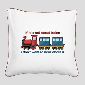 Train Talk Square Canvas Pillow