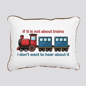 Train Talk Rectangular Canvas Pillow