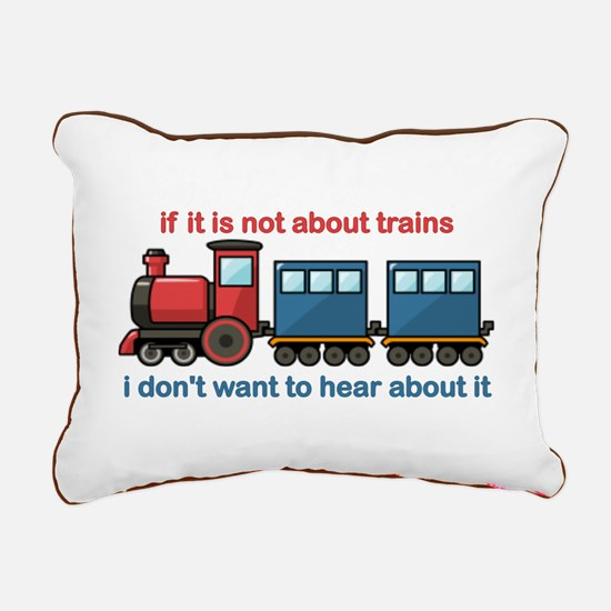 Train Talk Rectangular Canvas Pillow