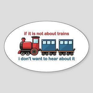 Train Talk Sticker (Oval)