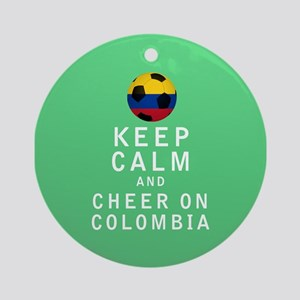 Keep Calm and Cheer On Colombia FULL Ornament (Rou