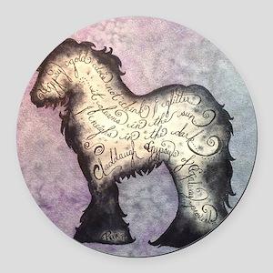 Purple Gypsy Proverb  Round Car Magnet