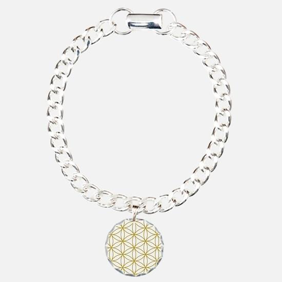 Flower of Life Lg Ptn GW Charm Bracelet, One Charm