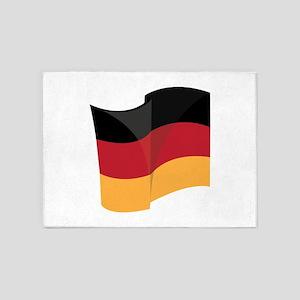 German Flag 5'x7'Area Rug