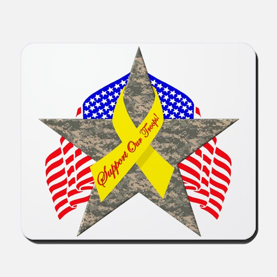 Support Our Troops Star Mousepad