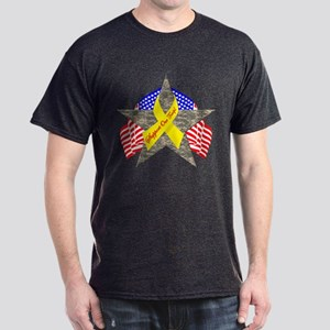 Support Our Troops Star Dark T-Shirt