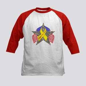 Support Our Troops Star Kids Baseball Jersey