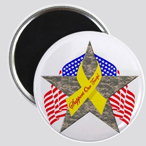 Support Our Troops Star Magnet