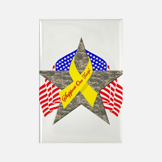 Support Our Troops Star Rectangle Magnet