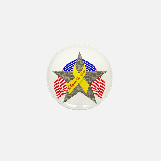 Support Our Troops Star Mini Button