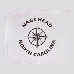 North Carolina - Nags Head Throw Blanket