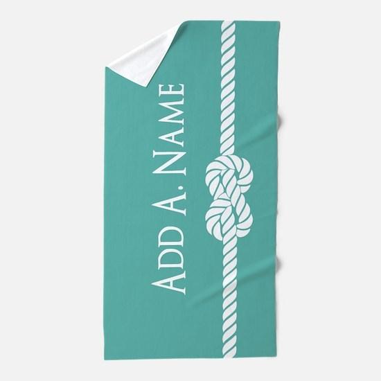 Turquoise Custom Personalized Beach Towel