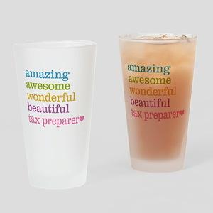 Tax Preparer Drinking Glass