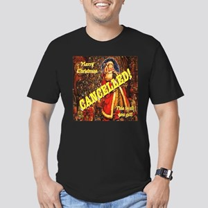 Christmas Cancelled! Men's Fitted T-Shirt (dark)