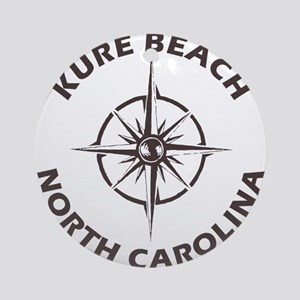 North Carolina - Kure Beach Round Ornament