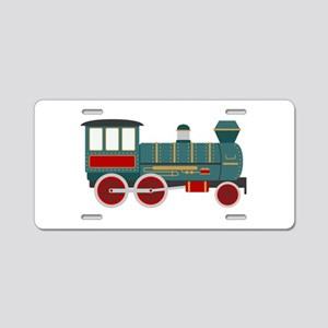Train Engine Aluminum License Plate