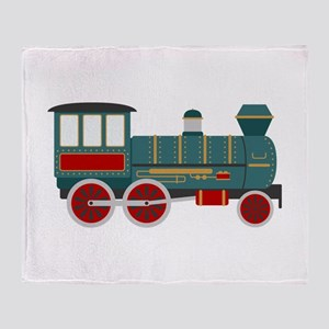 Train Engine Throw Blanket