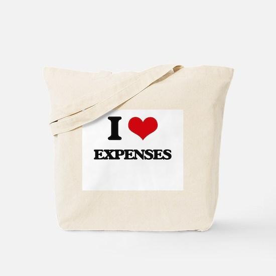 I love Expenses Tote Bag