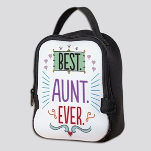 Best Aunt Ever Neoprene Lunch Bag