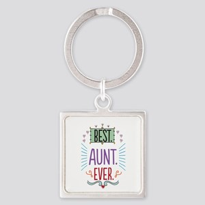 Best Aunt Ever Square Keychain