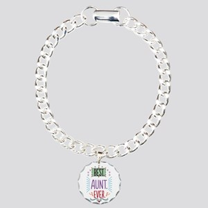 Best Aunt Ever Charm Bracelet, One Charm