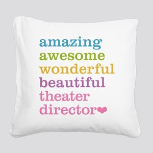 Theater Director Square Canvas Pillow