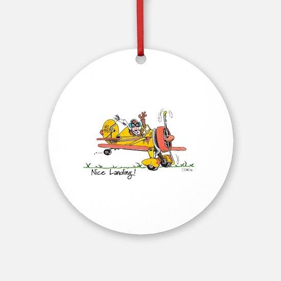 Nice Landing Ornament (Round)