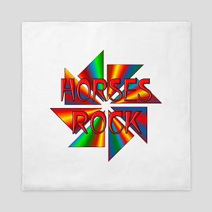 Horses Rock Queen Duvet