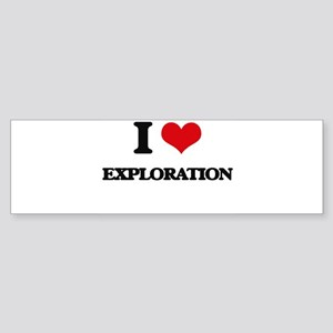 I Love Exploration Bumper Sticker