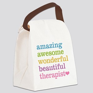 Awesome Therapist Canvas Lunch Bag