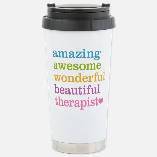Awesome Therapist Stainless Steel Travel Mug
