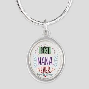 Nana Silver Oval Necklace