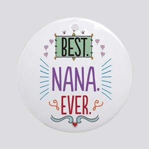 Nana Ornament (Round)
