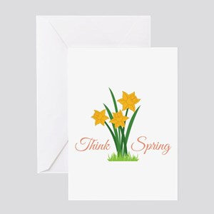 Think Spring Greeting Cards