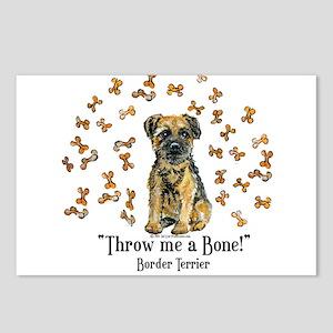Border Terrier Bone! Postcards (Package of 8)
