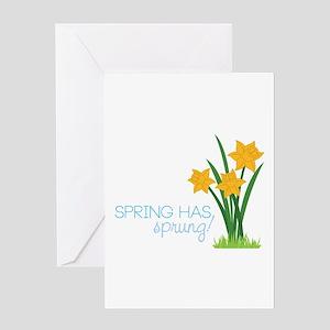 Spring Has Sprung Greeting Cards