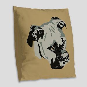 Warhol Boxer Dog Burlap Throw Pillow