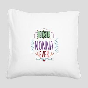 Nonna Square Canvas Pillow