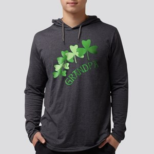 Grandpa Irish Shamrocks Long Sleeve T-Shirt