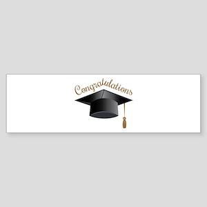 Congratulations Cap Bumper Sticker