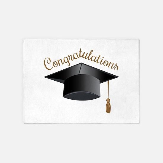 Congratulations Cap 5'x7'Area Rug