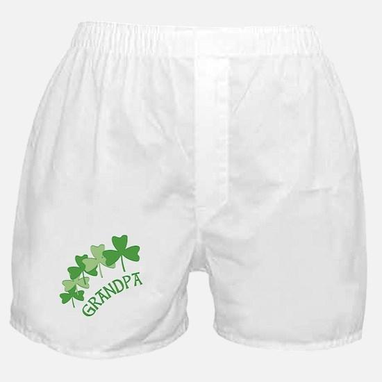 Grandpa Irish Shamrocks Boxer Shorts