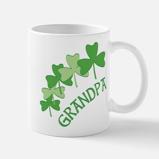 Grandpa Irish Shamrocks Mugs