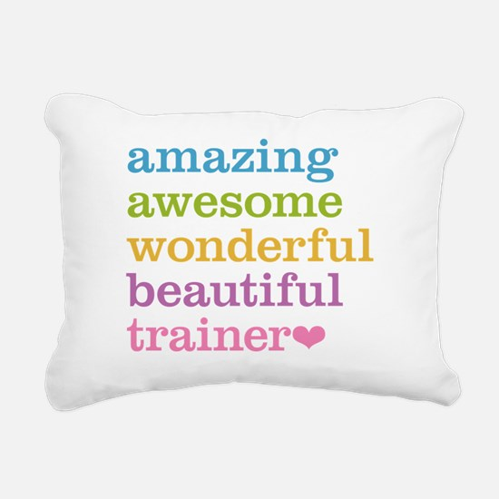 Awesome Trainer Rectangular Canvas Pillow