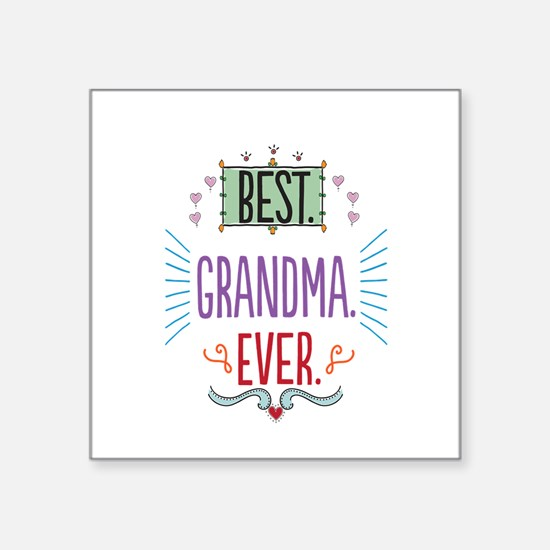 "Grandma Square Sticker 3"" x 3"""