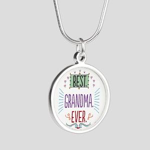 Grandma Silver Round Necklace