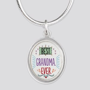 Grandma Silver Oval Necklace