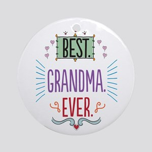 Grandma Ornament (Round)