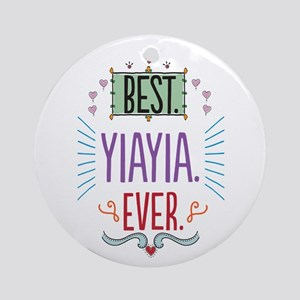 Yiayia Ornament (Round)